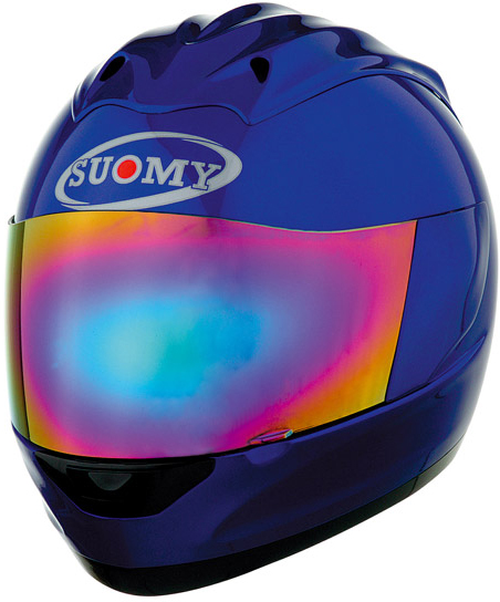 Casco moto integrale Suomy Trek Plain blu
