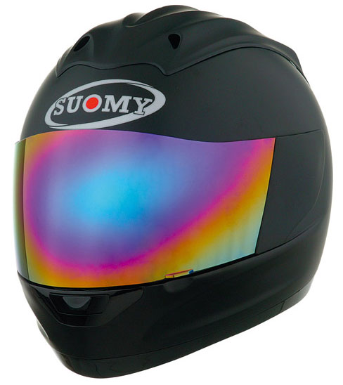 Casco moto integrale Suomy Trek Plain nero opaco