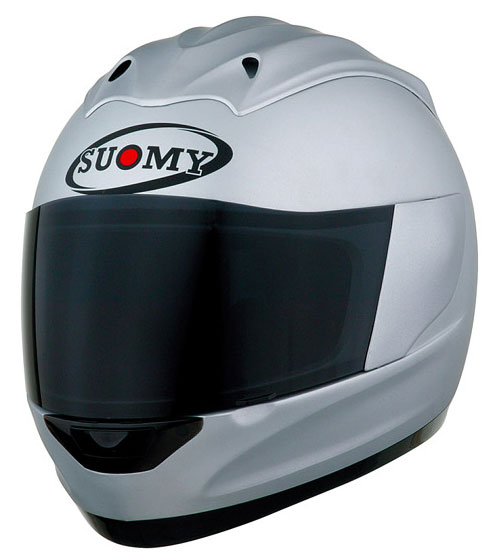 Casco moto integrale Suomy Trek Plain silver opaco