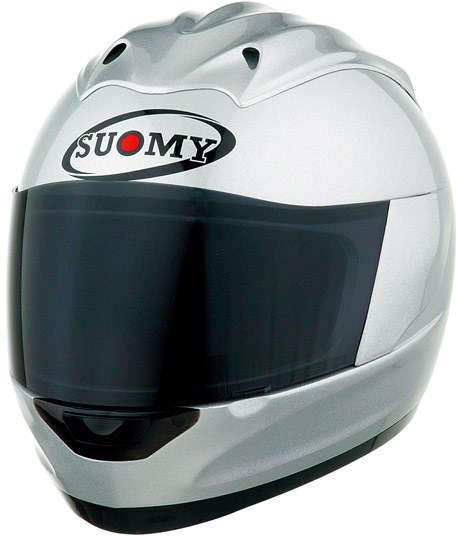 Casco moto integrale Suomy Trek Plain silver