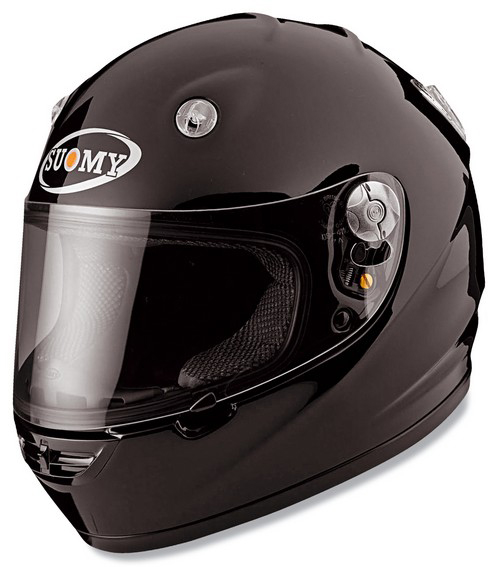 Casco moto integrale Suomy Vandal Plain nero lucido