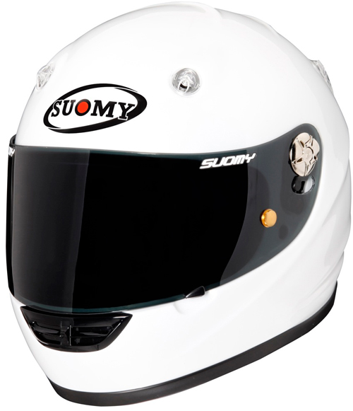 Casco moto integrale Suomy Vandal Plain Sunbeam bianco
