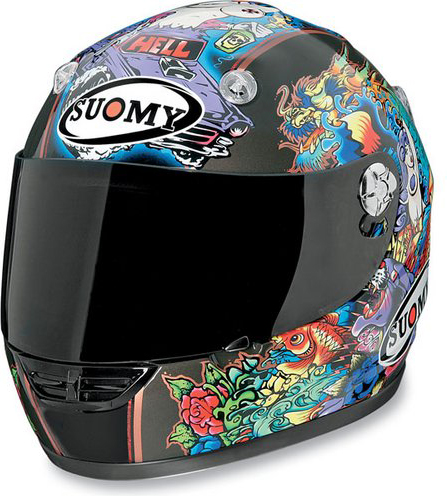 Casco moto integrale Suomy Vandal Tattoo Flash
