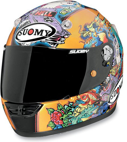 Casco moto integrale Suomy Vandal Tattoo Gold
