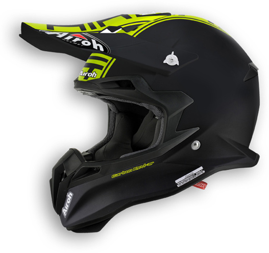 Airoh Terminator 2.1 Com offroad helmet yellow matt