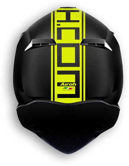 Casco moto offroad Airoh Terminator 2.1 Com giallo opaco