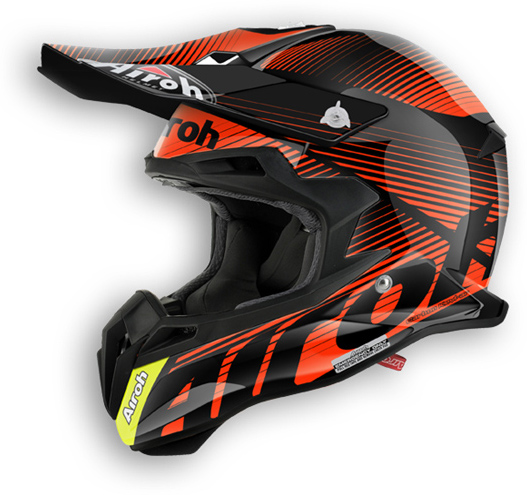 Airoh Terminator 2.1 Levels offroad helmet orange gloss