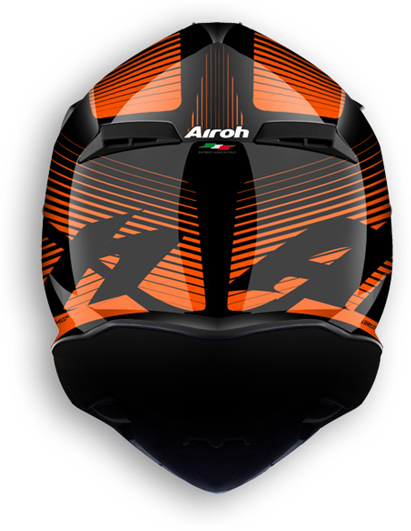 Casco moto offroad Airoh Terminator 2.1 Levels arancio lucido