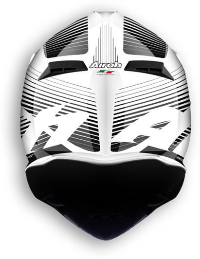 Airoh Terminator 2.1 Levels offroad helmet white gloss