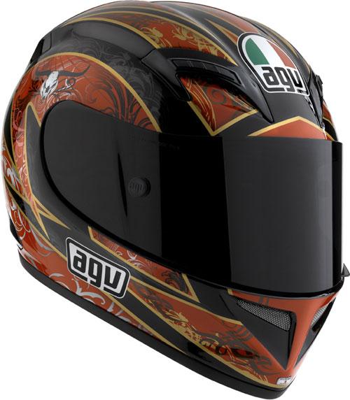 Casco moto Agv T-2 Multi Reach nero-rosso