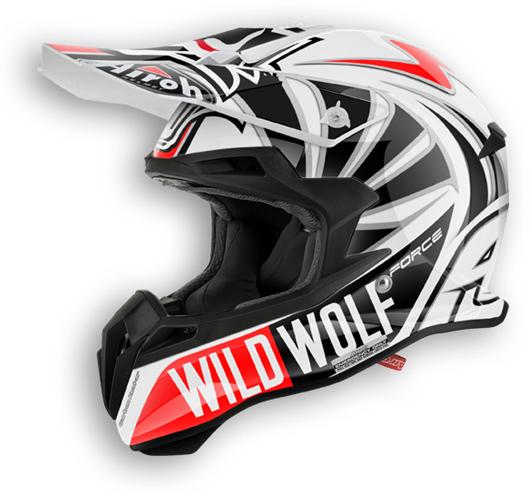 Casco moto offroad Airoh Terminator 2.1 Wild Wolf