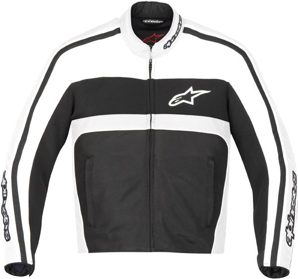Giacca moto Alpinestars T-Dyno Air bianco-nero