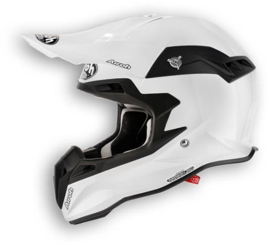Casco moto cross Airoh Terminator Color bianco perla