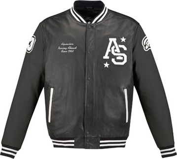 AlpinestarsTeam Win leather jacket black