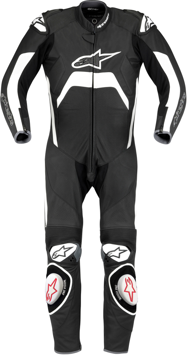 Alpinestars Tech 1-R leather suit black-white