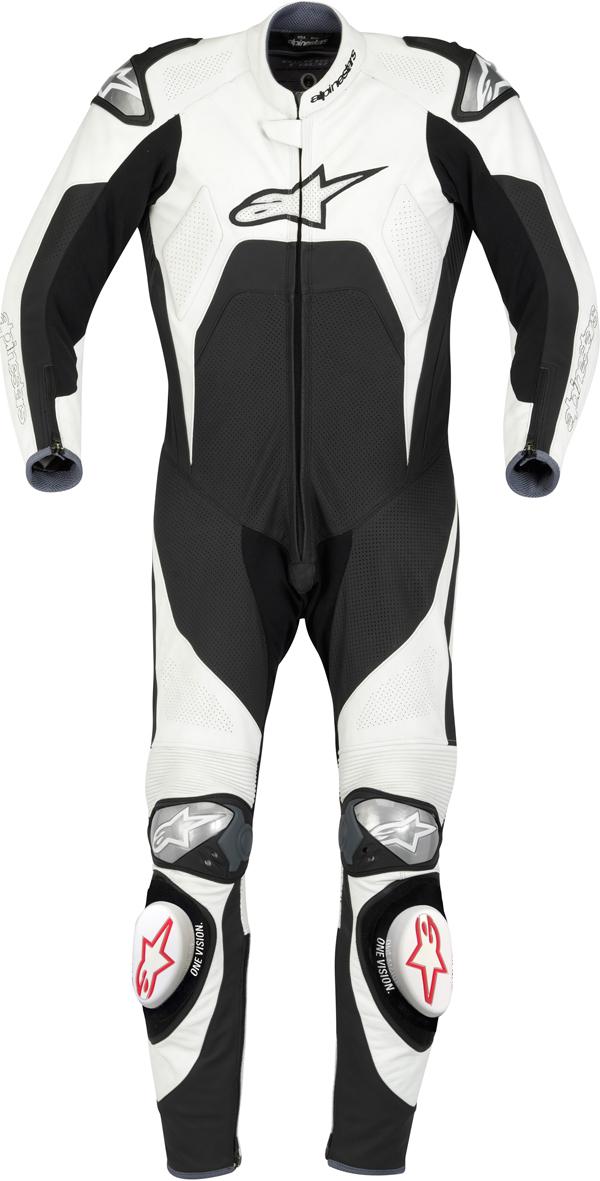 Alpinestars Tech 1-R leather suit white-black