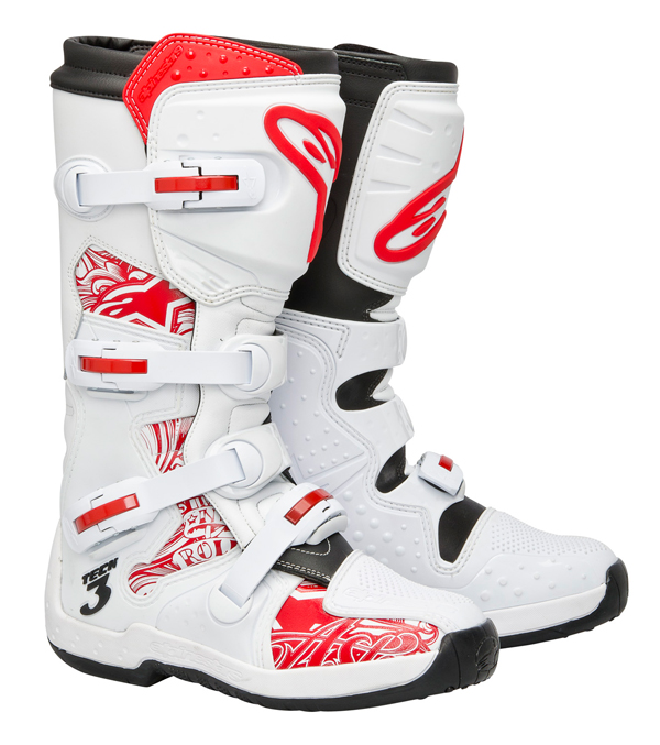 Alpinestars Tech 3 off-road boots black red swirls