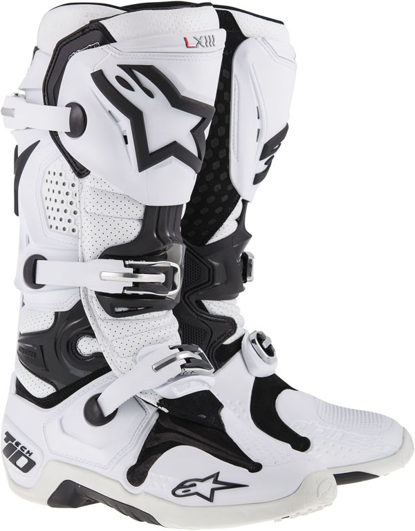 Alpinestars Tech-10 off-road boots white vented 2014