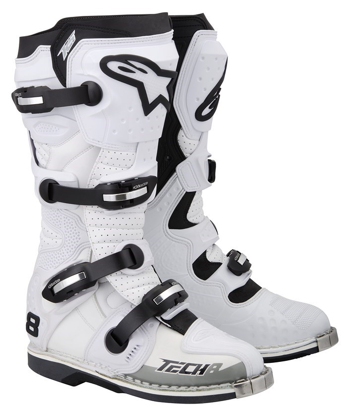 Alpinestars Tech 8 RS offroad boots white vented