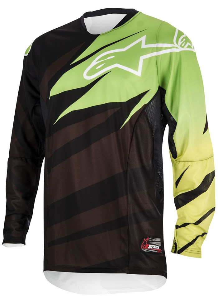Alpinestars Techstar 2014 offroad jersey black green lime