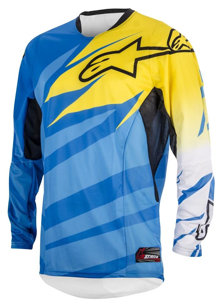 Maglia cross Alpinestars Techstar 2014 blu giallo bianco