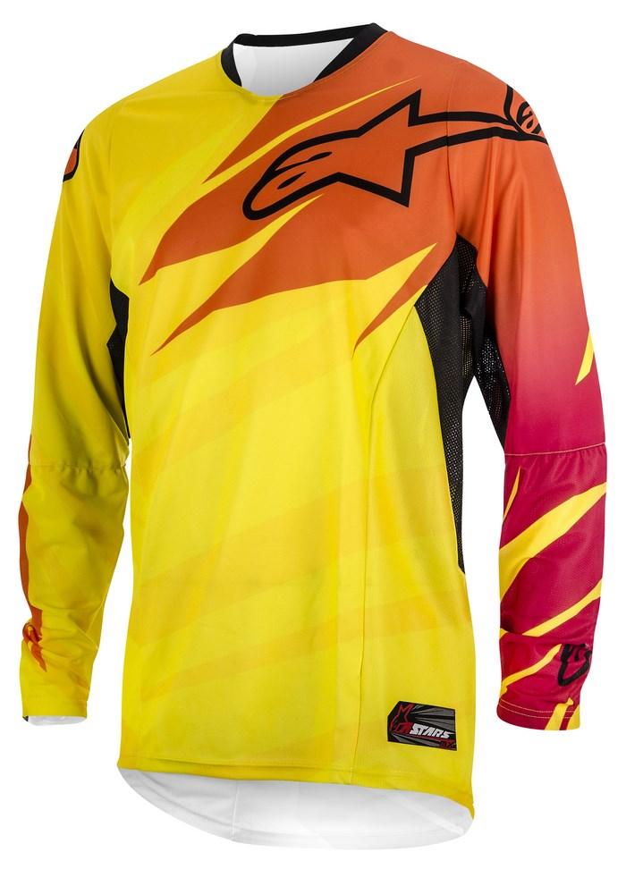 Alpinestars Techstar 2014 offroad jersey yellow orange rubine