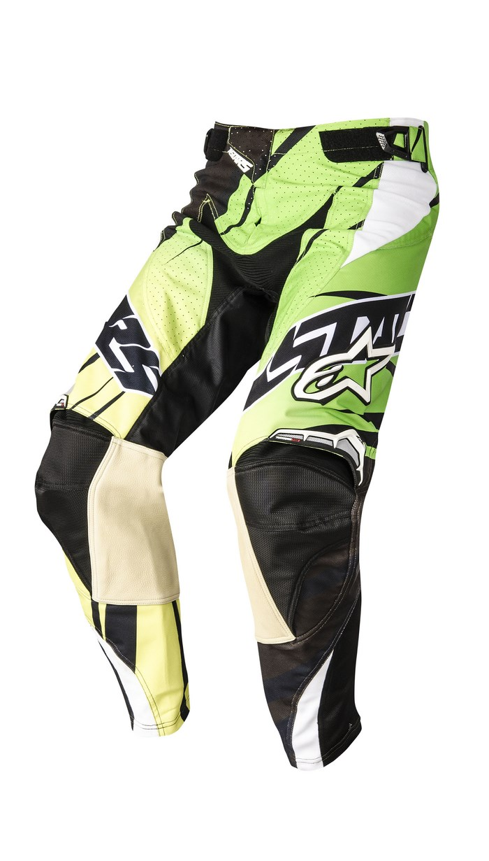 Alpinestars Techstar 2014 offroad pants black green lime
