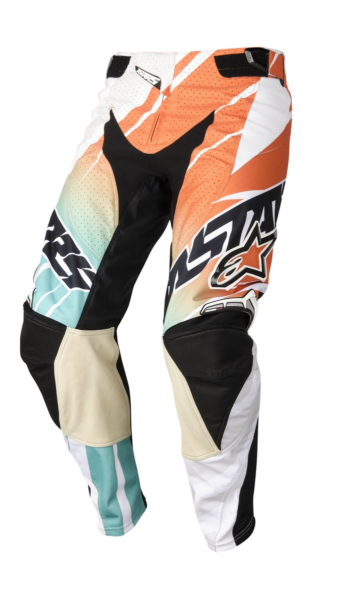 Alpinestars Techstar 2014 offroad pants white orange marine