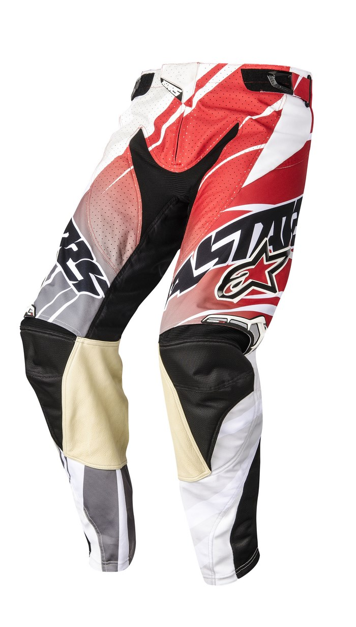 Alpinestars Techstar 2014 offroad pants white red gray
