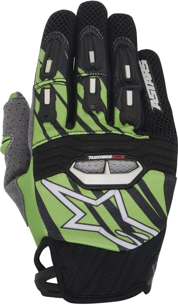 Alpinestars Techstar 2014 offroad gloves black green
