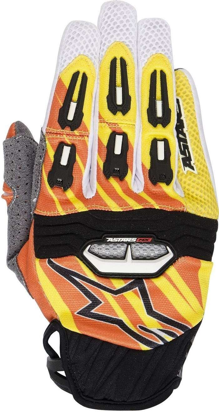 Alpinestars Techstar 2014 offroad gloves yellow orange white