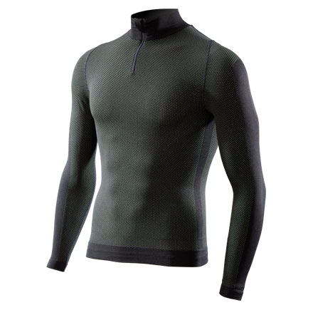 Long Sleeve Mock intimate Sixs Carbon Army Green