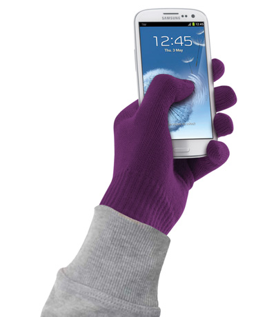 Cellular Line Touch screen gloves for Smartphone purple size S-M