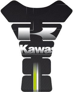 Kawasaki Tank Pad Resin Black / White / Green