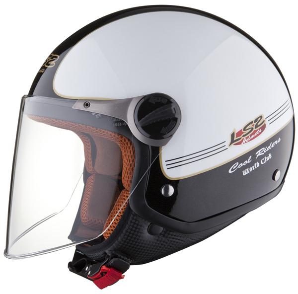 LS2 OF560 Travis open face helmet White