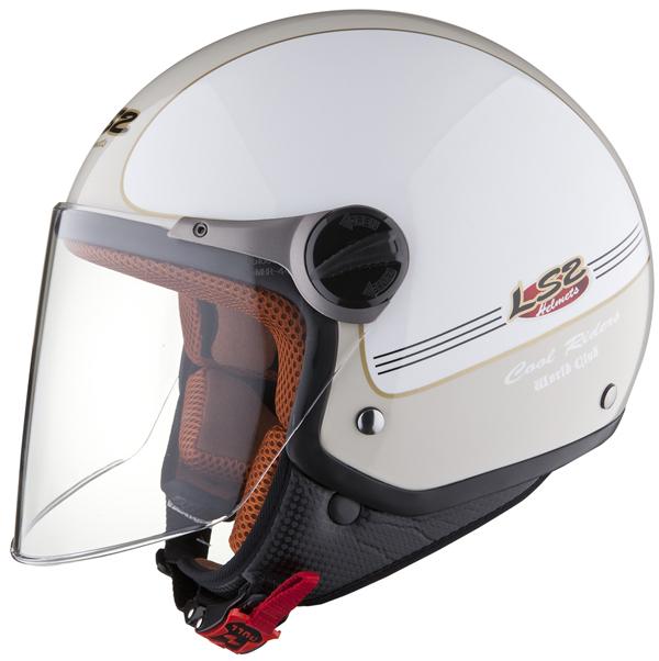 Casco moto jet LS2 OF560 Travis bianco sabbia