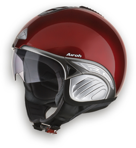 Casco moto Airoh Troy Color rosso