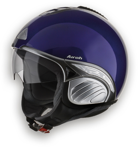 Casco moto Airoh Troy Color viola