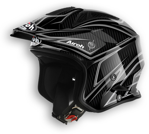 Casco moto off road Airoh TRR Carbon lucido
