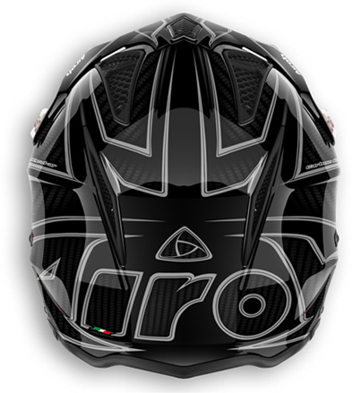 Off road motorcycle helmet Airoh TRR Carbon polished