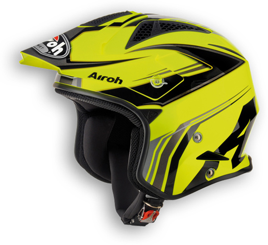 Off road motorcycle helmet Airoh TRR Dapper shiny yellow