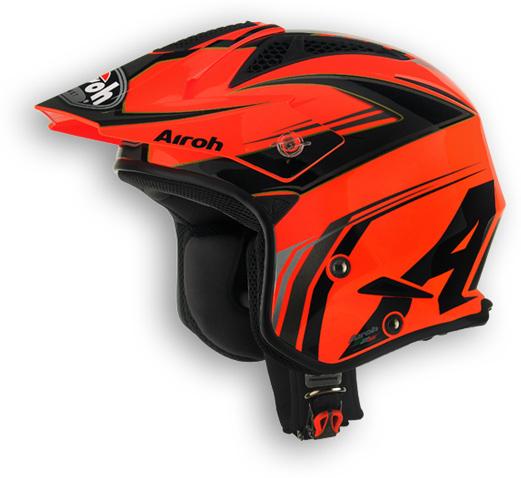 Casco moto off road Airoh TRR Dapper arancio lucido