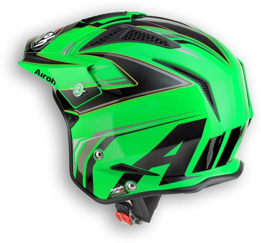 Off road motorcycle helmet Airoh TRR Dapper shiny green