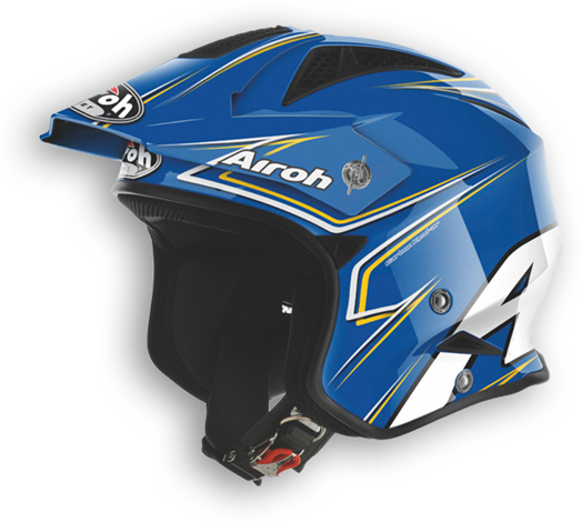 Off road motorcycle helmet Airoh TRR Smart shiny blue