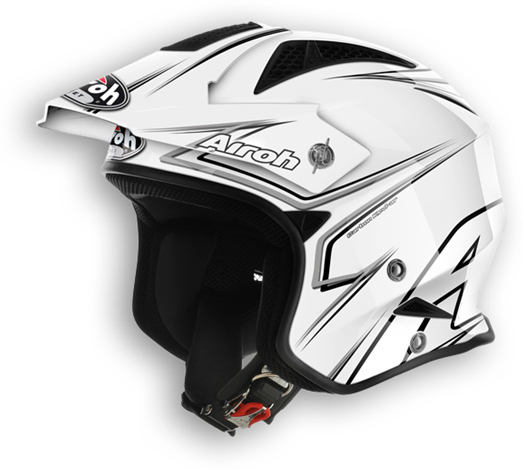 Casco moto off road Airoh TRR Smart bianco lucido