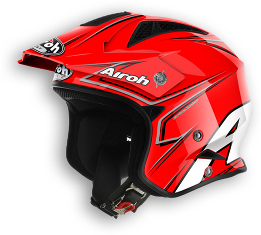 Off road motorcycle helmet Airoh TRR Smart shiny red