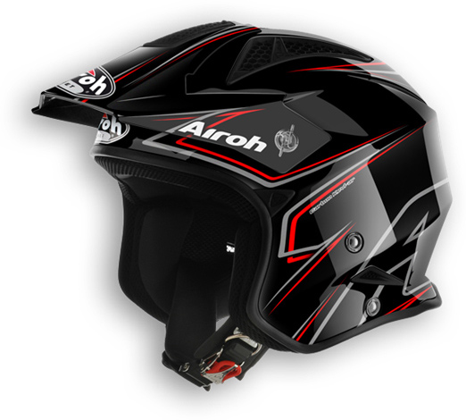 Casco moto off road Airoh TRR Smart nero lucido