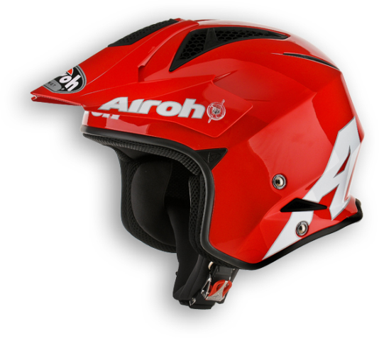 Casco moto off-road Airoh TRR Steel rosso lucido