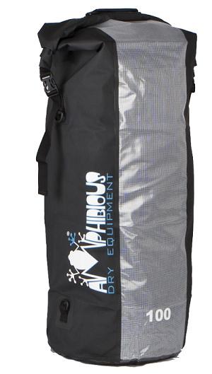 Waterproof bag saddle Amphibious Window 3 Gray