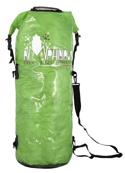 Waterproof bag saddle Amphibious Transparent Green 40